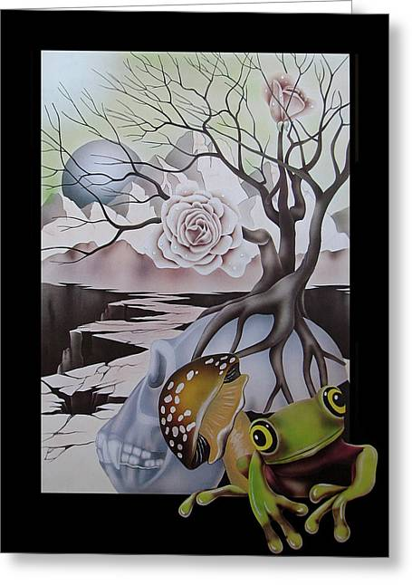 Tree Roots Greeting Cards - Delusion Of Time Greeting Card by Lonnie Tapia