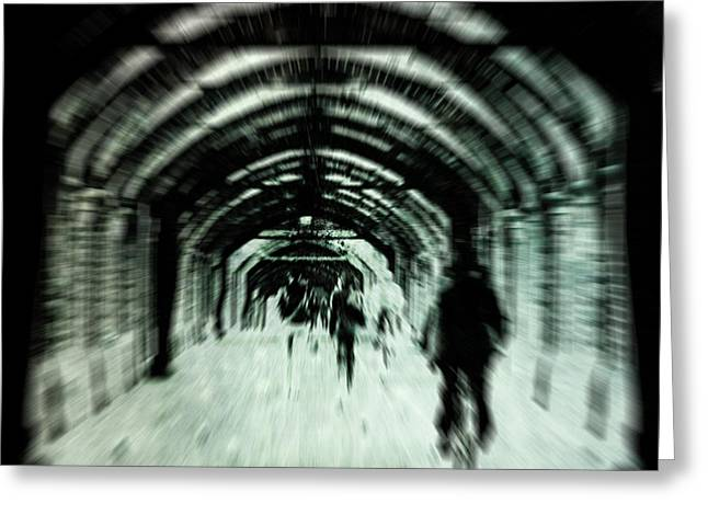 Warp Greeting Cards - Delusions Greeting Card by Andrew Paranavitana