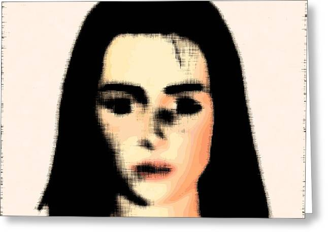 Face Recognition Photographs Greeting Cards - Dementia, Conceptual Artwork Greeting Card by Stephen Wood