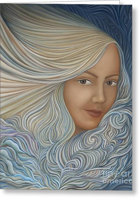 Recently Sold -  - Inner Self Paintings Greeting Cards - Demeter Greeting Card by Joanna Pregon