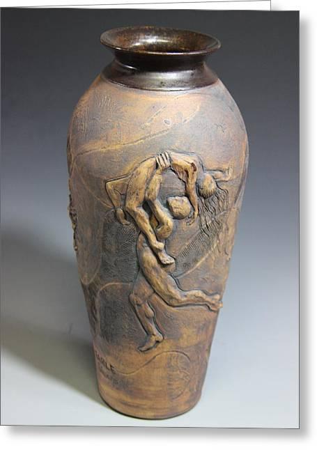 Ballet Ceramics Greeting Cards - Demeters Dance Goddess of Feelings and Emotion Greeting Card by Dan Earle