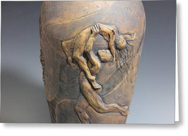 Demeter's Dance Goddess of Feelings and Emotion Greeting Card by Dan Earle