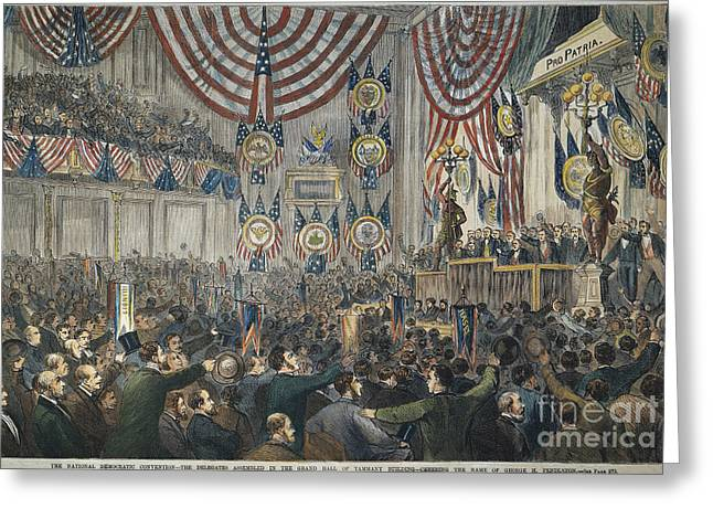 Convention Greeting Cards - Democratic Convention, 1868 Greeting Card by Granger