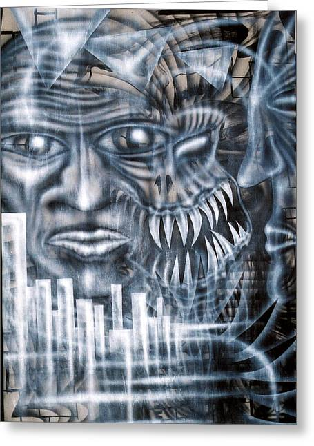 Morph Greeting Cards - Demon City Greeting Card by Leigh Odom