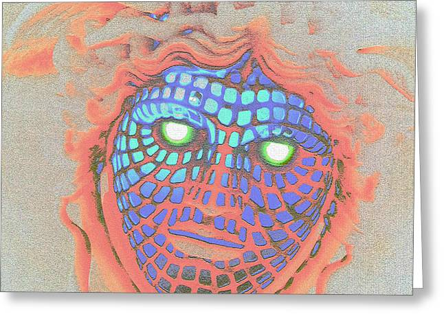 Digital Modified Greeting Cards - Demonic Appearance  Greeting Card by Heiko Koehrer-Wagner