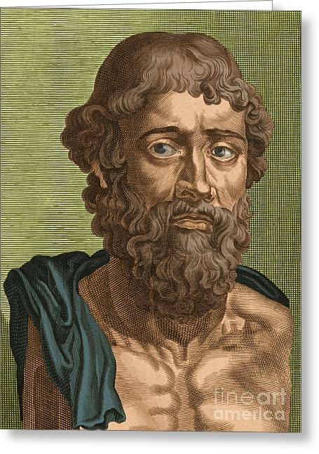 Commit Greeting Cards - Demosthenes, Ancient Greek Orator Greeting Card by Photo Researchers