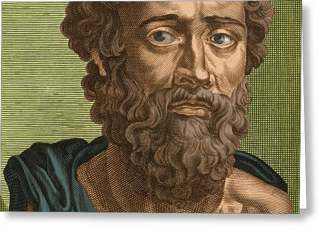 Demosthenes, Ancient Greek Orator Greeting Card by Photo Researchers