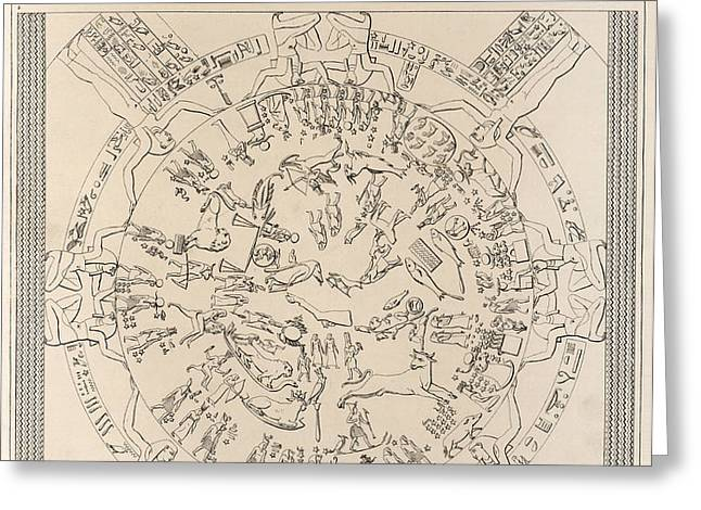 Dendera Zodiac From The Temple Of Hathor Greeting Card by Humanities And Social Sciences Libraryasian And Middle Eastern Division