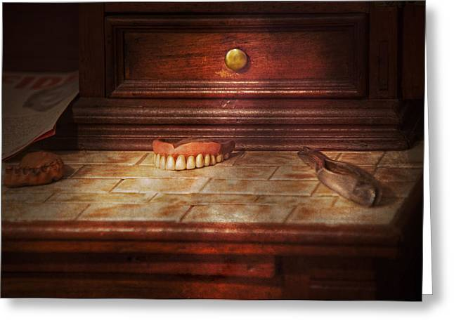 Tooth Puller Greeting Cards - Dentist - False Teeth Greeting Card by Mike Savad