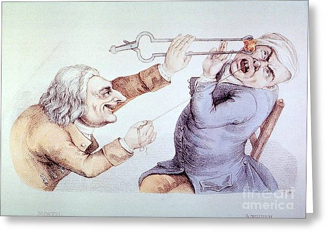 Dentistry Tooth Extraction 1810 Greeting Card by Science Source