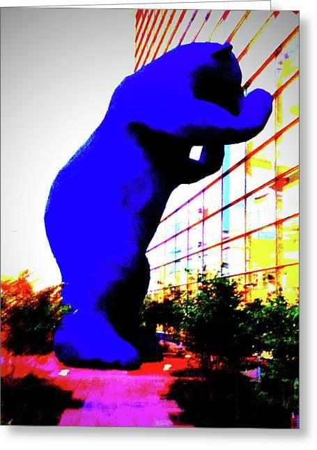 Denver Pyrography Greeting Cards - Denver Bear Greeting Card by Dean McCready