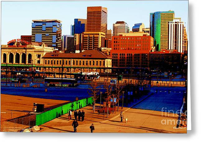 16th Street Mall Greeting Cards - Denverscape II Greeting Card by Christine Zipps