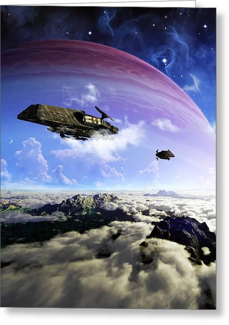 Stellar Prints Greeting Cards - Departure Greeting Card by Brian Christensen
