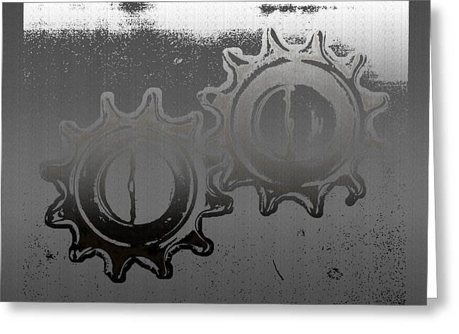 Industrial Gears Greeting Cards - Deplete Greeting Card by Slade Roberts