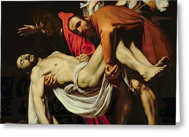 Deposition Greeting Card by Michelangelo Merisi da Caravaggio