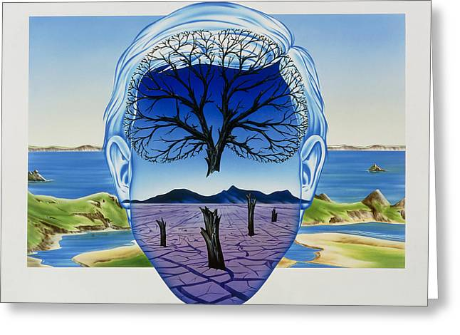Hallucination Greeting Cards - Depression Greeting Card by John Bavosi