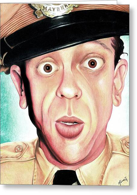 Recently Sold -  - Andy Griffith Show Greeting Cards - Deputy of Mayberry Greeting Card by Marvin  Luna