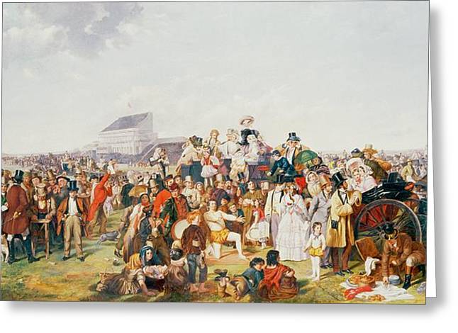 Grandstands Greeting Cards - Derby Day Greeting Card by William Powell Frith