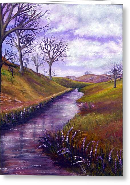 Kinkade Greeting Cards - Derbyshire Brook Greeting Card by Ann Marie Bone