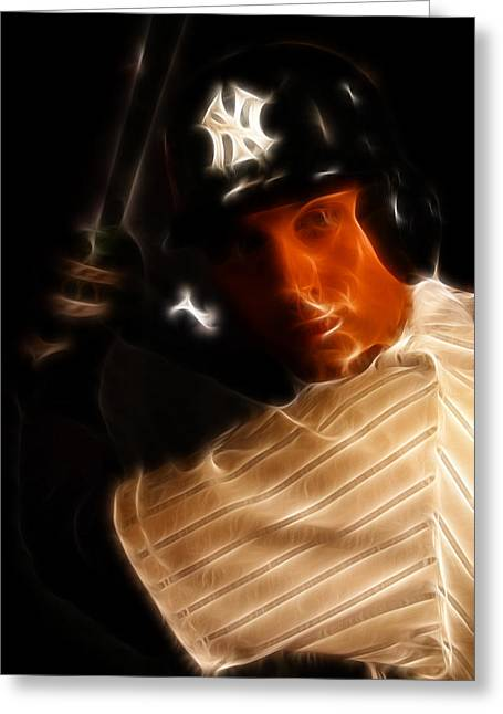 San Francisco Famous Photographers Greeting Cards - Derek Jeter - New York Yankees - Baseball  Greeting Card by Lee Dos Santos