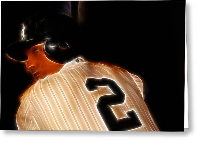 San Francisco Famous Photographers Greeting Cards - Derek Jeter II- New York Yankees - Baseball  Greeting Card by Lee Dos Santos