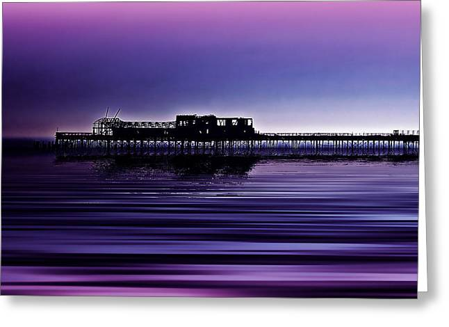 Seaside Digital Greeting Cards - Derelict Beauty Greeting Card by Sharon Lisa Clarke