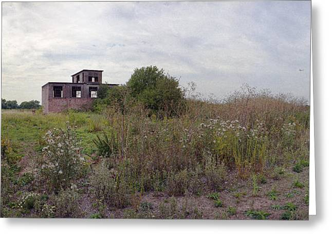 Raf Greeting Cards - Derelict Control Tower RAF Sturgate Greeting Card by Jan Faul