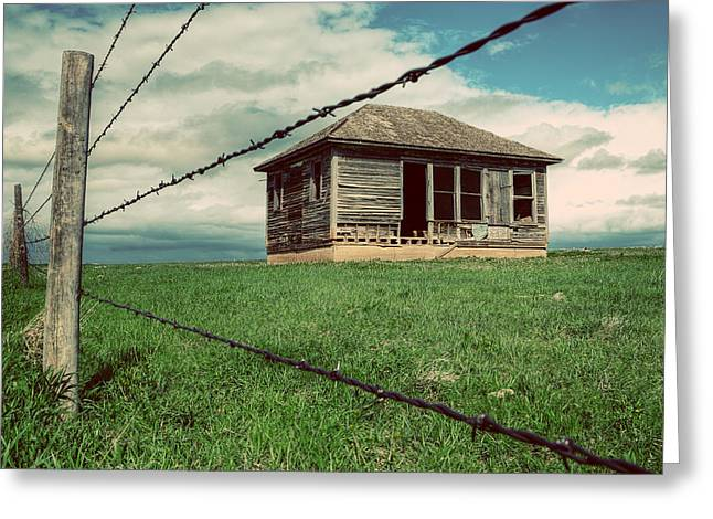Old House Photographs Greeting Cards - Derelict House on the Plains Greeting Card by Thomas Zimmerman