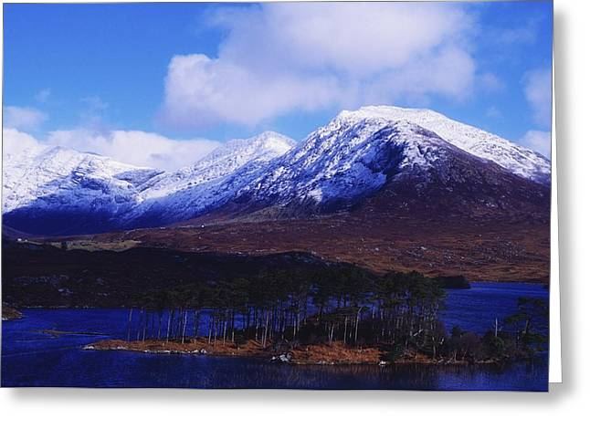 Co Galway Greeting Cards - Derryclare Lough, Twelve Bens Greeting Card by The Irish Image Collection