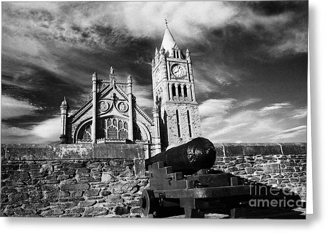 Guild Greeting Cards - Derrys Walls And Guildhall Derry City Northern Ireland Greeting Card by Joe Fox