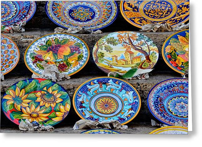Italian Pottery Greeting Cards - Deruga Artistry Greeting Card by Michael Biggs