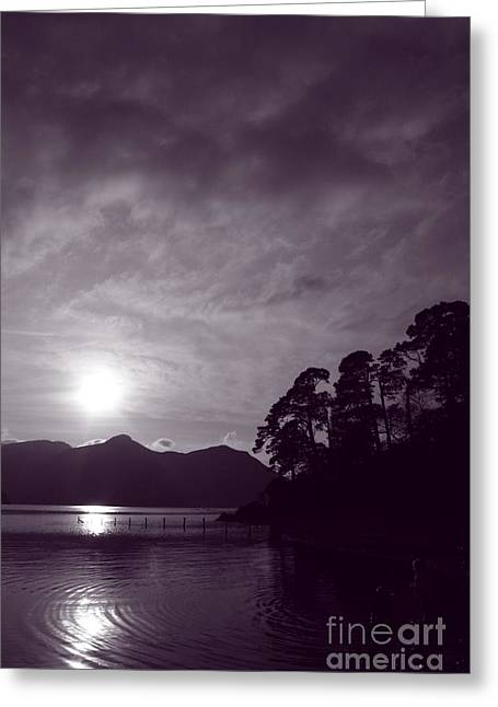 Wainwright Greeting Cards - Derwent ripples Greeting Card by Linsey Williams