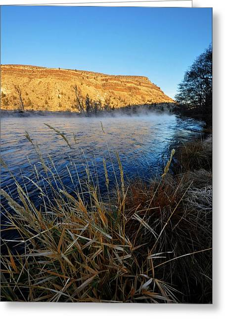 Deschutes River Greeting Cards - Deschutes River Steam  Greeting Card by Noah Cole