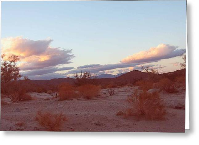 Field. Cloud Greeting Cards - Desert and Sky Greeting Card by Naxart Studio