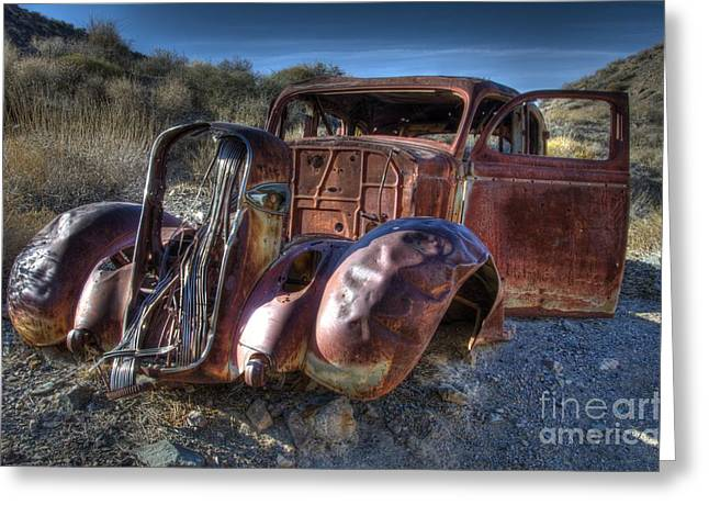 Forgotten Cars Greeting Cards - Desert Beauty Greeting Card by Bob Christopher