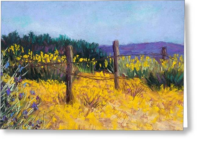 Fence Pastels Greeting Cards - Desert Bloom Greeting Card by Candy Mayer