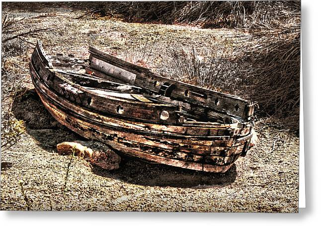 Old West Towns In California Greeting Cards - Desert Boat Greeting Card by Danuta Bennett