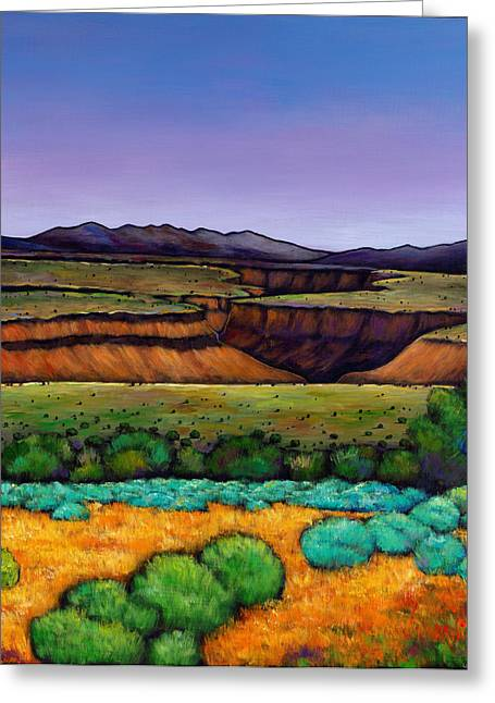 Autumn Landscape Paintings Greeting Cards - Desert Gorge Greeting Card by Johnathan Harris
