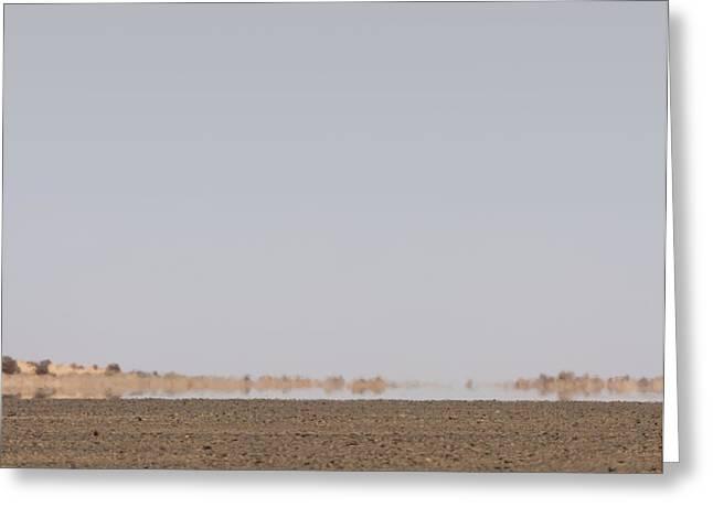 Mind-bending Greeting Cards - Desert Mirage, Libya Greeting Card by David Parker