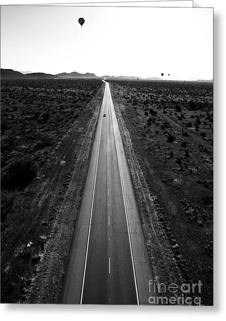 Arizona Artist Greeting Cards - Desert Road Greeting Card by Scott Pellegrin