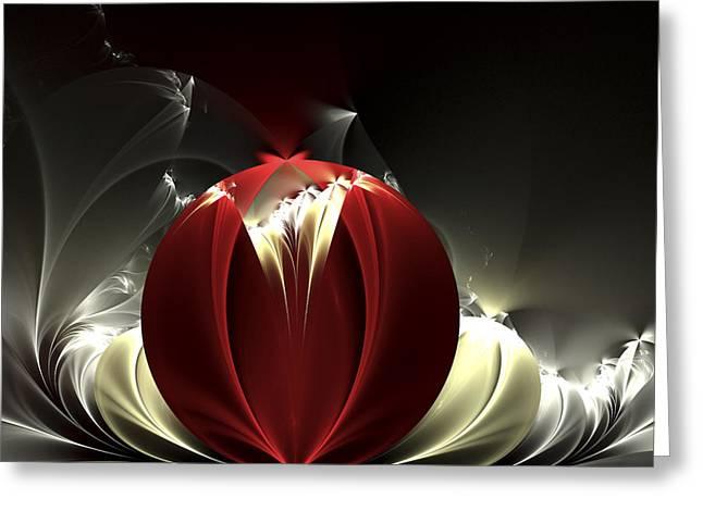 Apophysis Digital Art Greeting Cards - Desert Rose Greeting Card by Amorina Ashton
