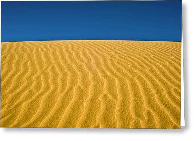 Desert Greeting Cards - Desert Sand Dune Greeting Card by Photostock-israel