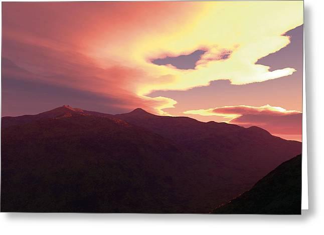 Robert Duvall Greeting Cards - Desert Sunset Greeting Card by Robert Duvall