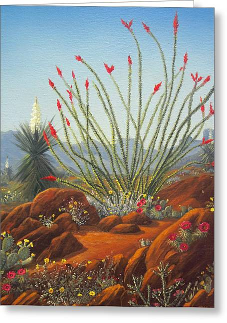 Desert Symphony Greeting Card by Rick Mittelstedt
