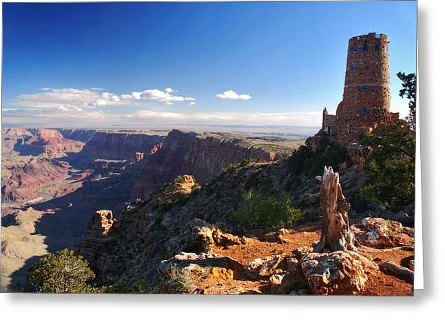 Jeka World Photography Greeting Cards - Desert View Greeting Card by Jeff Rose