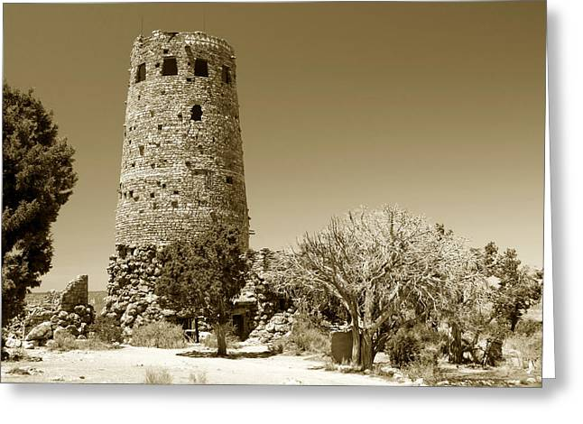 Hopi Indian Greeting Cards - Desert view tower work number 1 Greeting Card by David Lee Thompson
