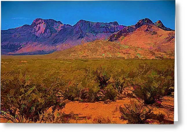 Las Cruces Digital Art Greeting Cards - Desert Vista Greeting Card by Anne Rodkin