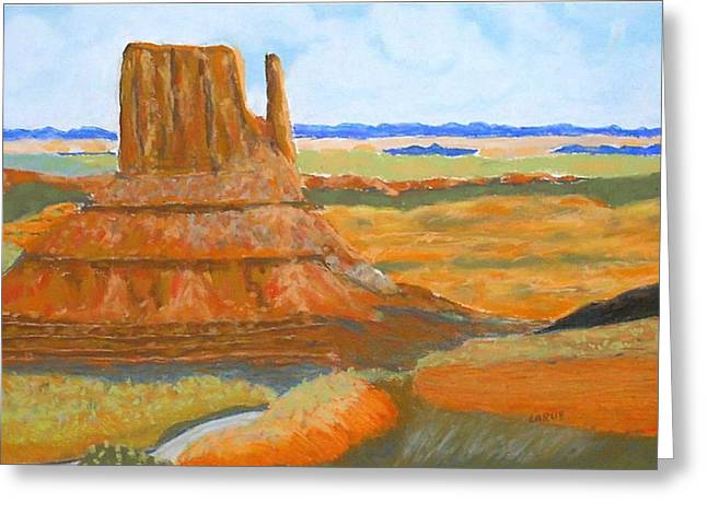 Formation Pastels Greeting Cards - Desert Vista Greeting Card by Ron LaRue