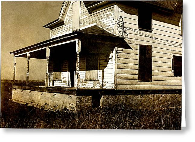 Deserted House Greeting Card by Bonnie Bruno