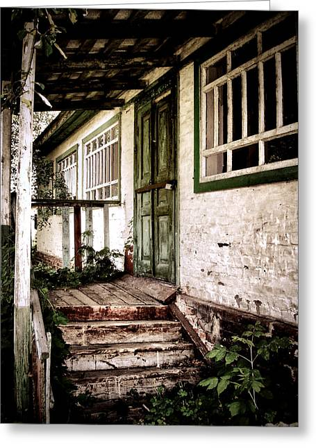 Wooden Stairs Greeting Cards - Deserted Not Forgotten Greeting Card by Julie Palencia
